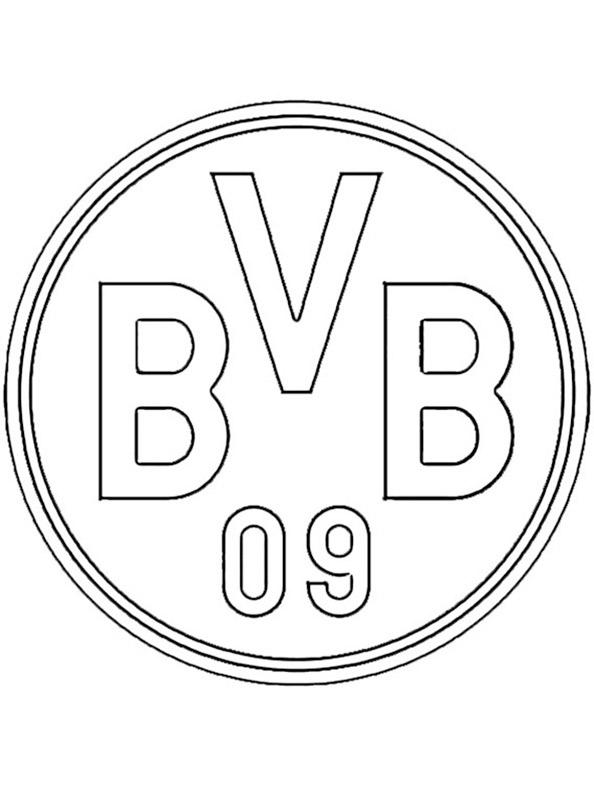 Fußball Borussia Dortmund Wappen zum ausmalen
