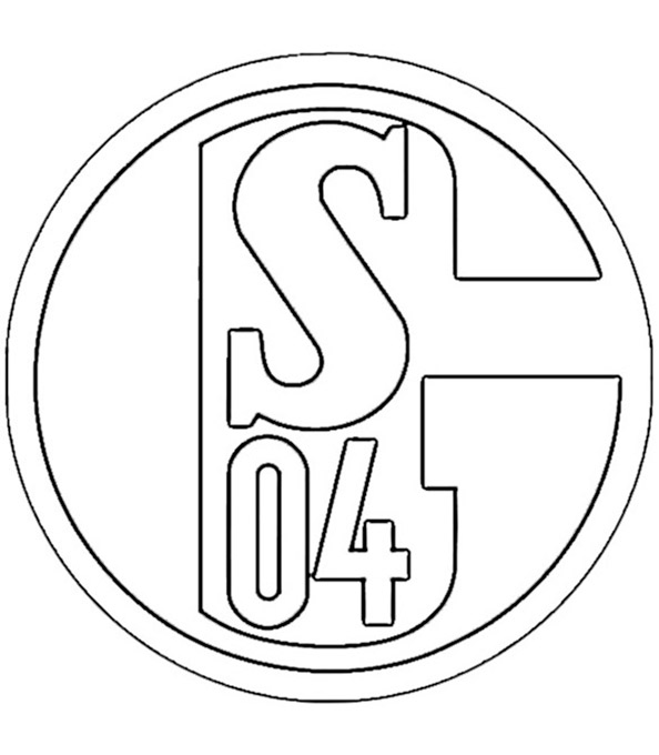 Fußball FC Schalke 04 wappen zum ausmalen