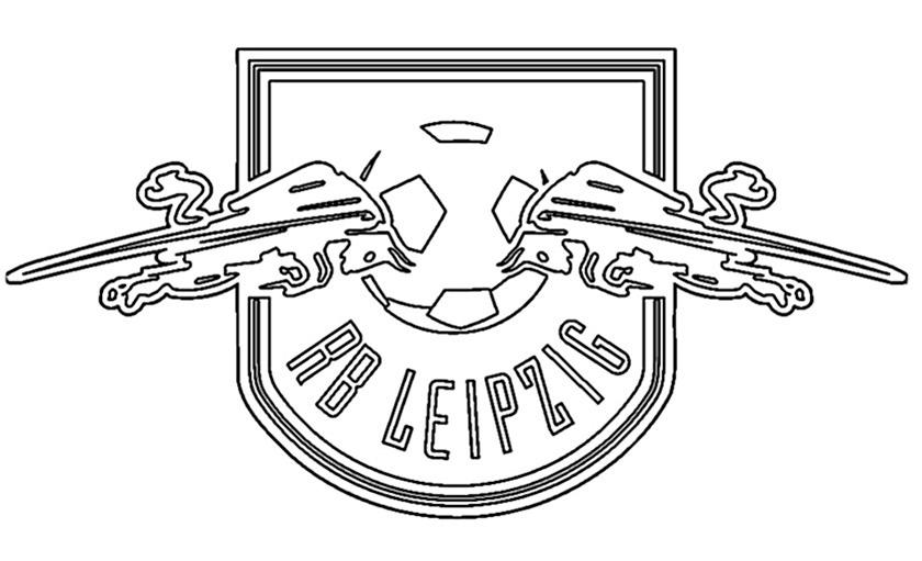 RB Leipzig Wappen zum ausmalen