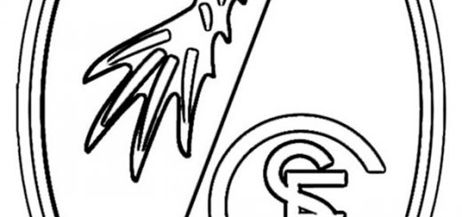 SC Freiburg Wappen zum ausmalen