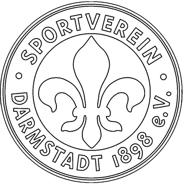 SV Darmstadt 98 Wappen zum ausmalen