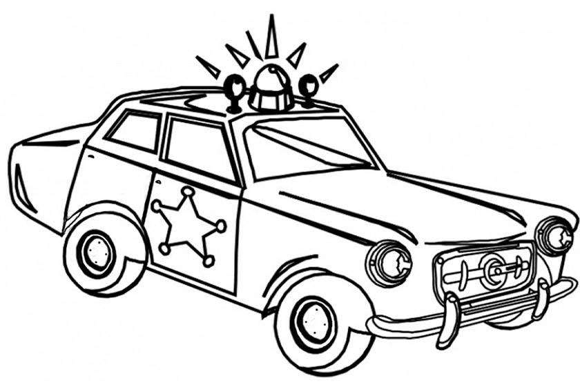 Ausmalbilder Polizeiauto Sheriff