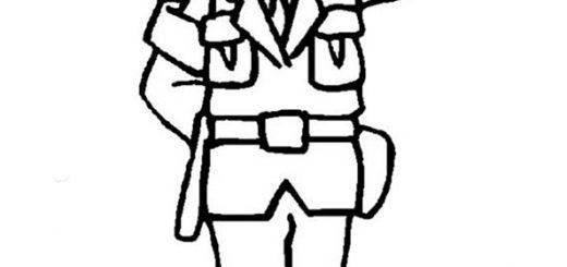 Ausmalbilder Polizeimann 3