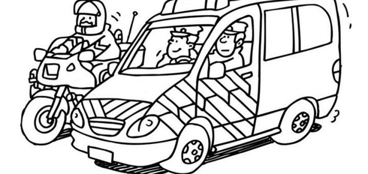 polizei 9  ausmalbilder