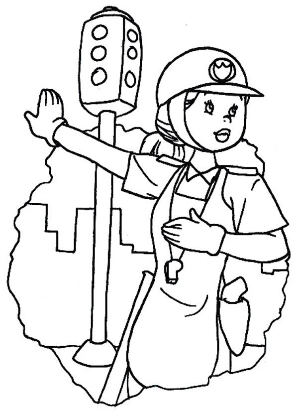Ausmalbilder Polizistinnen 5