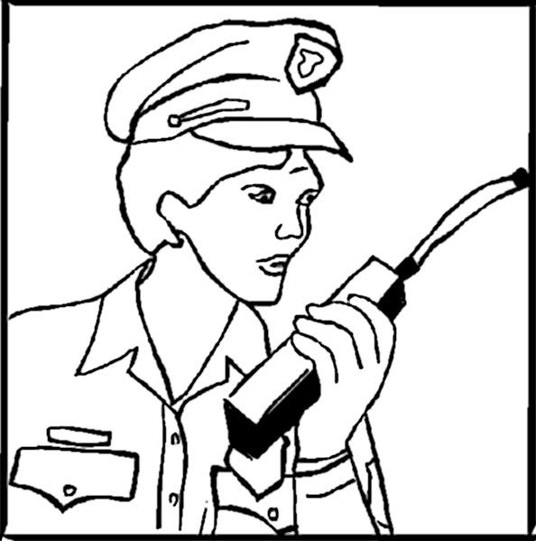 Ausmalbilder Polizistinnen 7