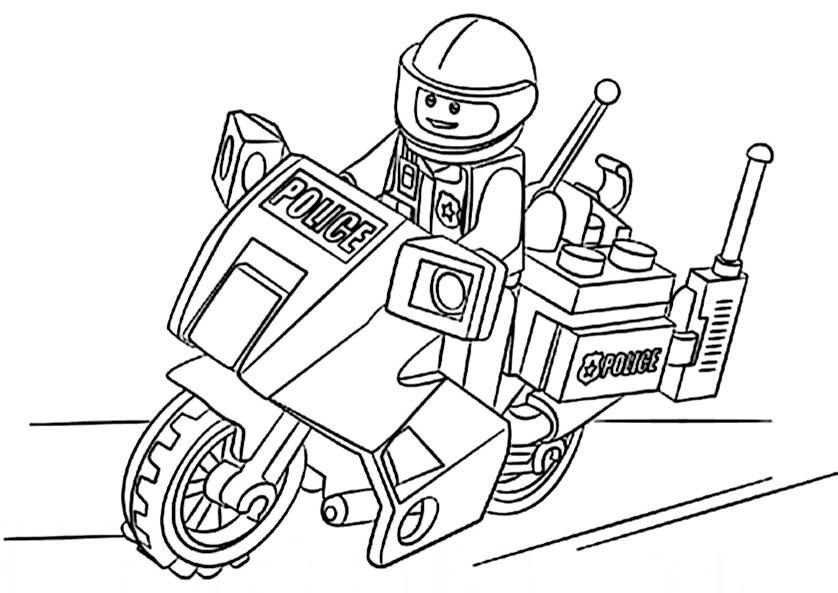 Ausmalbilder Polizeimotorrad 9