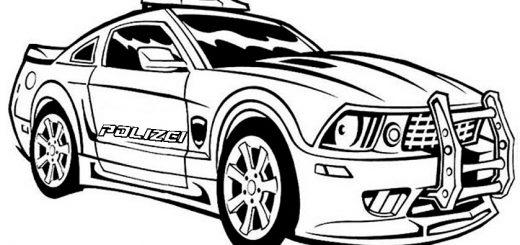 Ausmalbilder Polizeiauto 10