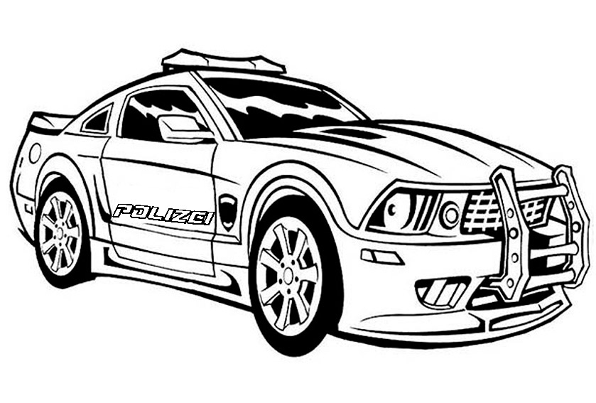 Polizei 10 Ausmalbilder
