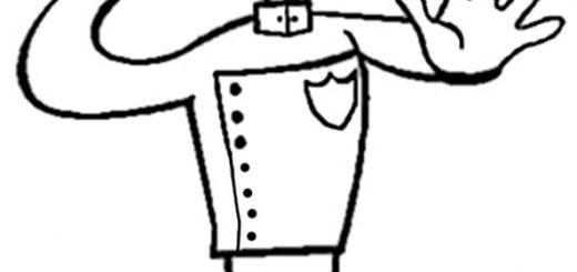 Ausmalbilder Polizeimann 12