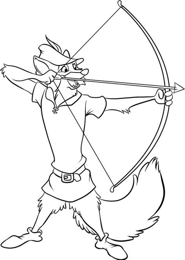 Robin Hood ausmalbilder 11