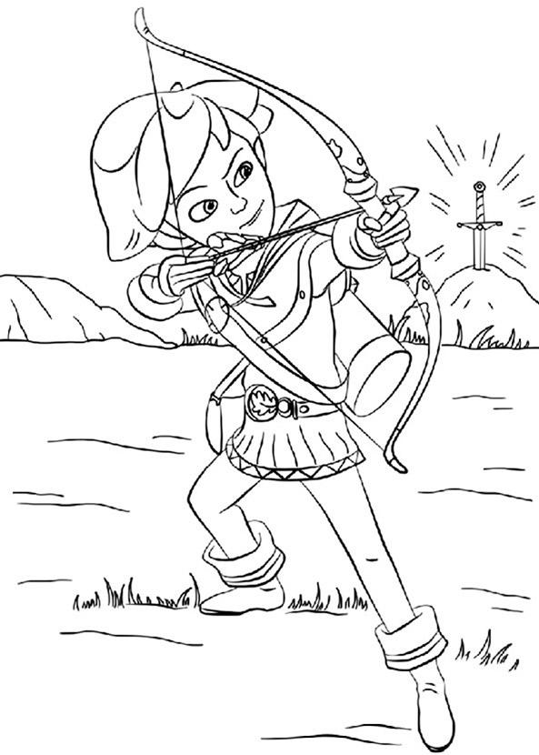 Robin Hood ausmalbilder 12