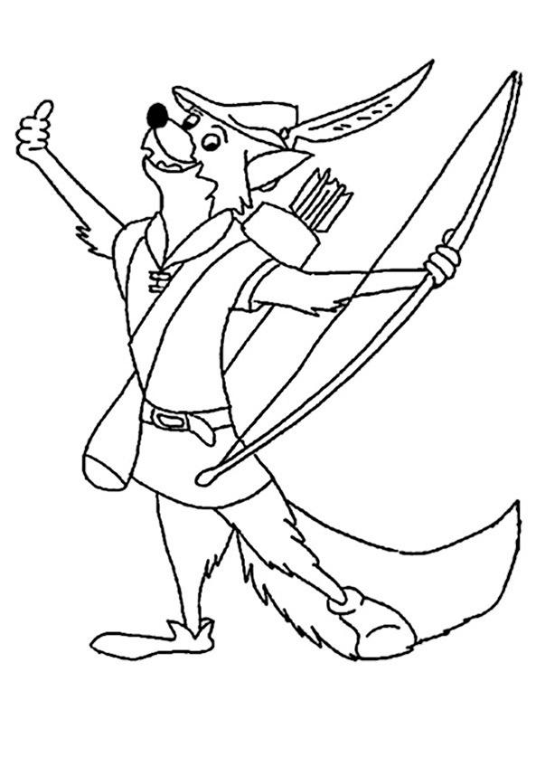 Robin Hood ausmalbilder 5