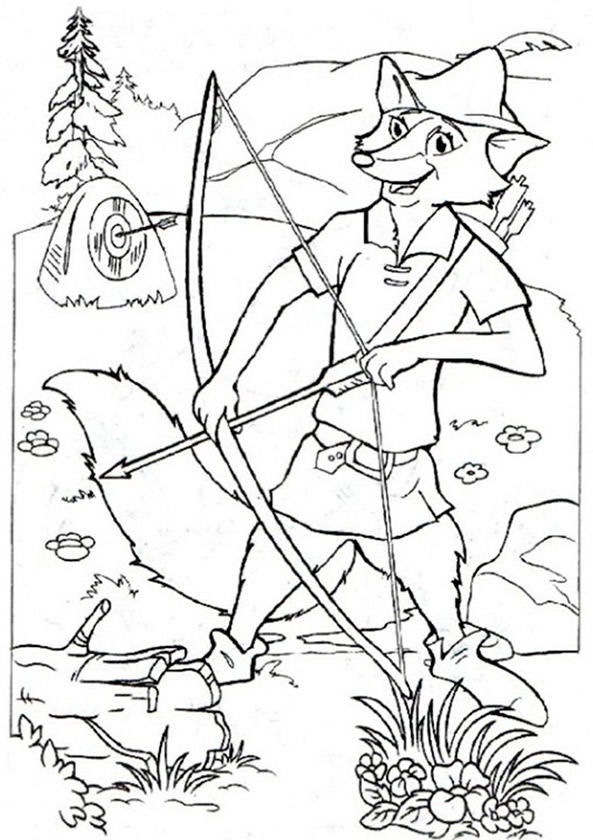 Robin Hood ausmalbilder 15