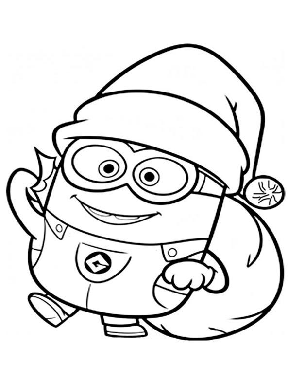 Ausmalbilder Minions Weihnachten 46